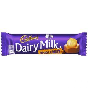 Chocolate Dairry Milk  Whole e Nut 45g