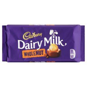 Chocolate Dairry Milk  Whole e Nut 200g