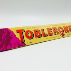 Chocolate Toblerone Swiss Milk Fruit & Nut 100g