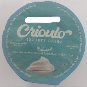 Iogurte Crioulo Grego 125g