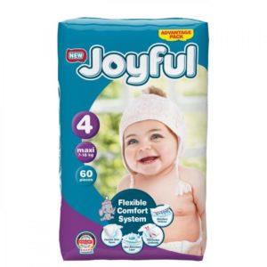 Fralda Joyful T4 7-18kg 60pc