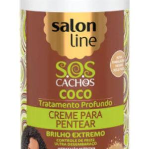 Salon Line Creme p/Pentear Óleo Mant.de Côco 300ml