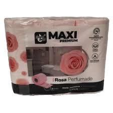 Papel Higienico Maxi Premiun Rosa 12 rolos