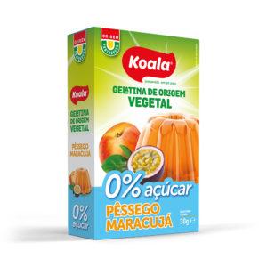 Gelatina Koala em Pó 0% Açúcar Pêssego/Maracujá 30g