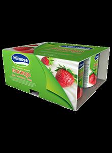Iogurte Mimosa Aroma Morango 4x125g