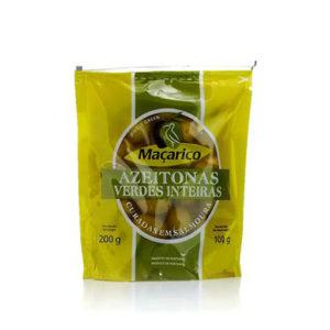 Azeitonas Maçarico Verde SAQ. Inteira 100g