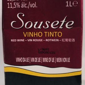 Vinho Tinto Sousete pacote 1 L