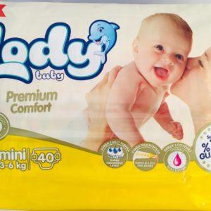 Fralda Lody Baby T2 3-6kg 40un