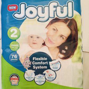 Fralda Joyful Advant T2 3-6 kg 76pc
