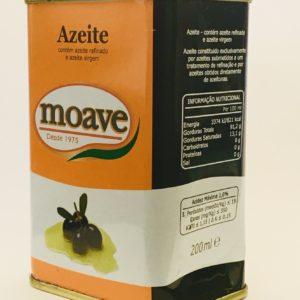 Azeite Moave Lata Refinado e Virgem 200 ml