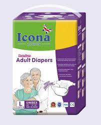 Adult Diapers Icona L 10 pcs