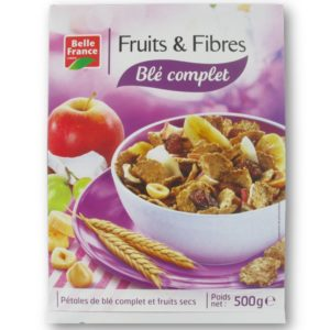 Cereais Fruits e Fibres Blé complet Belle France 500g