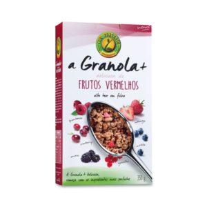 A Granola+ Frutos Vermelhos Cem Porcento 350g