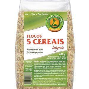 Flocos 5 Cereais Integrais Cem Porcento 400g