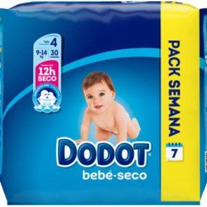 Fralda Dodot Bebé Seco T4 30unid
