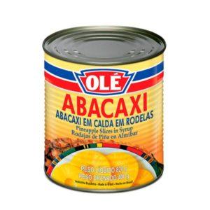 Ananas em Calda em Roledas Olé 820gr