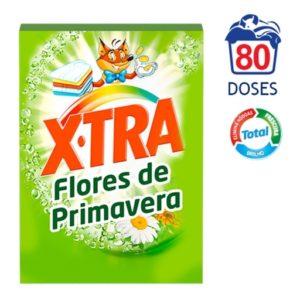 Detergente de Maquina X.Tra Total Flores de Primavera 80D
