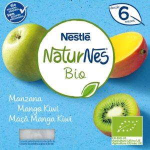 Iogurte NatureNes Bio Maça – Manga – Kiwi 4*125gr