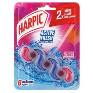 Bloco Sanitário Harpic Flor Tropical 35gr
