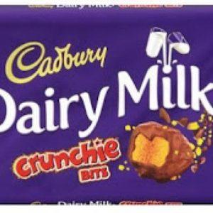 Chocolate Dairy Milk Crunchie Bits 200gr